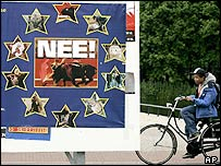 'No' campaign poster in The Hague