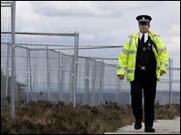 Perimeter fence at Gleneagles hotel