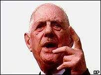 French President Charles de Gaulle, 1970