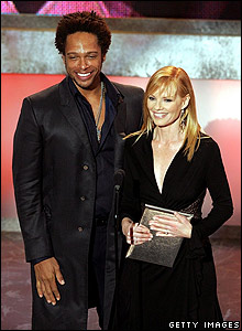 Gary Dourdan and Marg Helgenberger