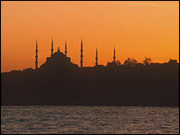 Sunset over Bosphorus