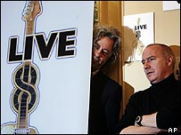 Midge Ure (right) with Bob Geldof
