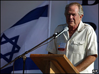 Pat Robertson delivers a speech in Israel in 2004