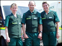 Essex ambulance crews wearing stab vests