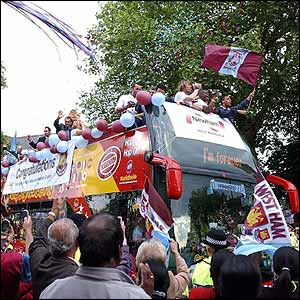 The West Ham promotion parade starts