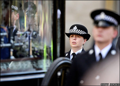 Pc Teresa Milburn follows the hearse
