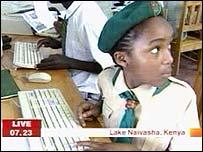Breakfast reported from a primary school in Kenya last summer