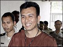 Trial suspect Waemahadi Wae-dao outside Bangkok court - 1/6/05