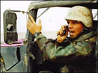 Nathaniel Fick during the invasion of Iraq (Photo courtesy of Nathaniel Fick)