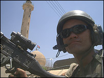 Colby Buzzell on patrol in Mosul (Photo courtesy of Colby Buzzell)
