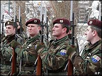 Bosnia troops. File photo