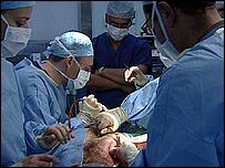 Surgeon's operate on Khalid's ear