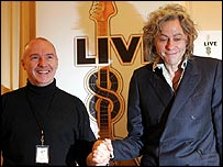 Bob Geldof (right) and Midge Ure at Live 8 launch