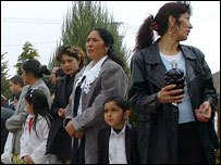 Roma families at an Easter celebration in Hungary