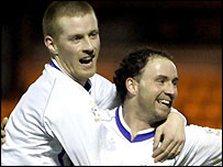 Robert Sloan (left) and Ross Hamilton were on the scoresheet for Alloa
