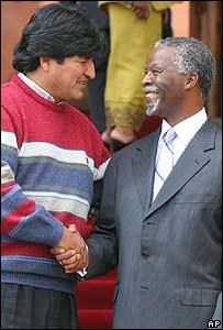 Evo Morales y Thabo Mbeki.