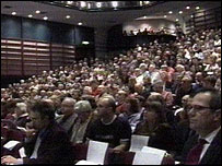 People attending the council meeting