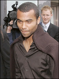 Ashley Cole in London on Wednesday