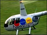 Newsnight helicopter