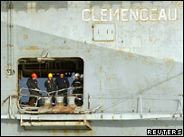 The French warship Clemenceau