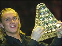 Paul Hunter with 2004 Masters title