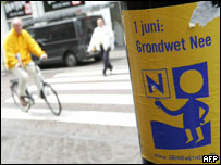 'No' poster in The Hague