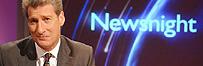 Jeremy Paxman in the Newsnight studio