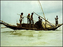 The Meghna river in Bangladesh