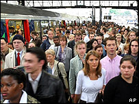 Commuters in France