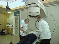 Patient undergoes radiotherapy