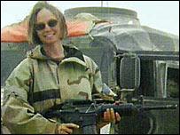Kayla Williams in Iraq (Photo: Colin Soloway)