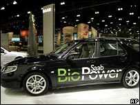 Bio-fuel driven Saab concept car unveiled at 2006 LA Auto Show