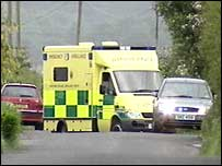 Ambulances attended the scene of the blast