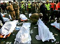 Bodies of the victims