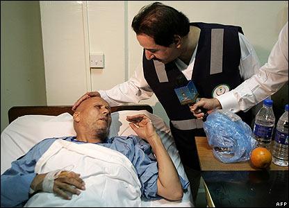 Saudi health minister visits injured in hospital