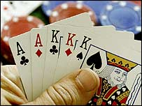 Poker player with full house