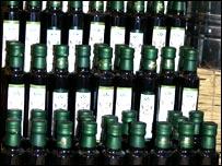 Olive oil for sale at Borough Market