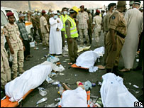 Bodies of the Hajj stampede victims