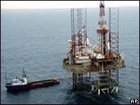 Oil rig in Delta