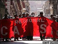 Demonstrators in La Paz