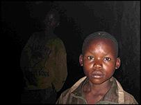 Children inside goldmine