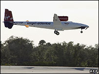 GlobalFlyer lands at Cape Canaveral, AFP