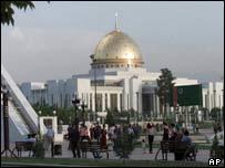 President Saparmyrat Niyazov's palace in Ashgabat, Turkmenistan
