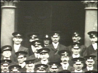 Edith Smith (centre, behind back row) with fellow officers