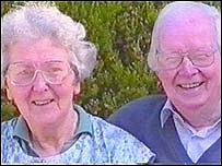 Rhiannon Evans with her husband Gwynfor