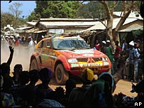 The Dakar Rally field sweeps through Guinea