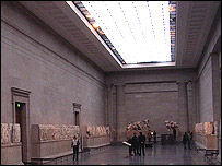 The gallery containing the British Museum's Parthenon sculptures