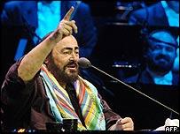 Luciano Pavarotti in Belgrade