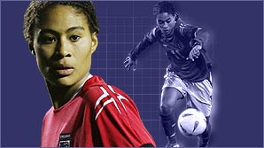 England's Rachel Yankey shows you her magical skills