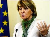 EU commissioner Danuta Hubner